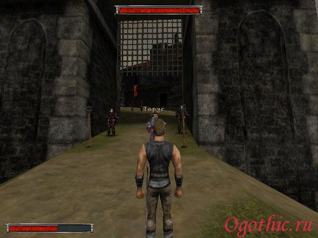 Ворота на территорию замка под охраной Торуса
