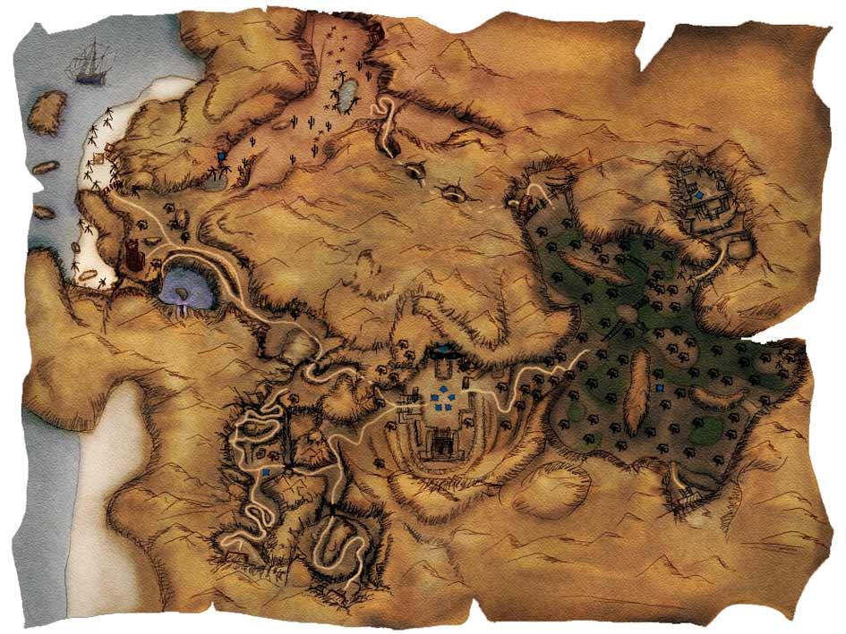 Карта Яркендара