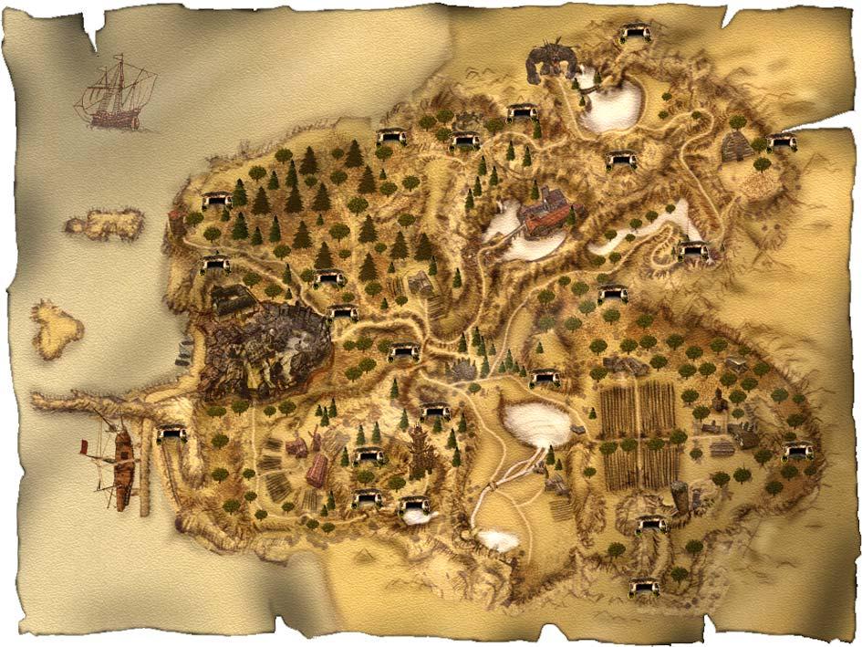 Карта пещер Хориниса