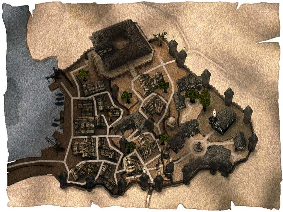 Карта крепости Хоринис