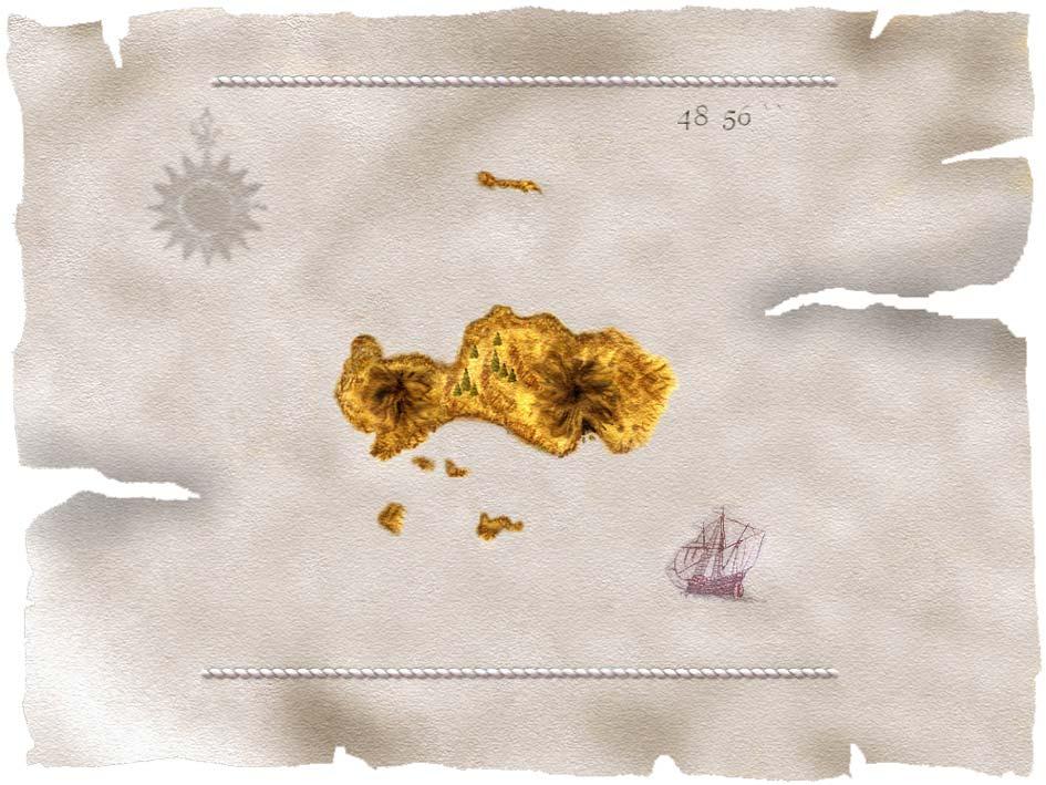 Морская карта острова Ирдорат