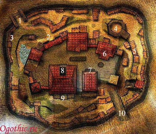 Карта Старого лагеря