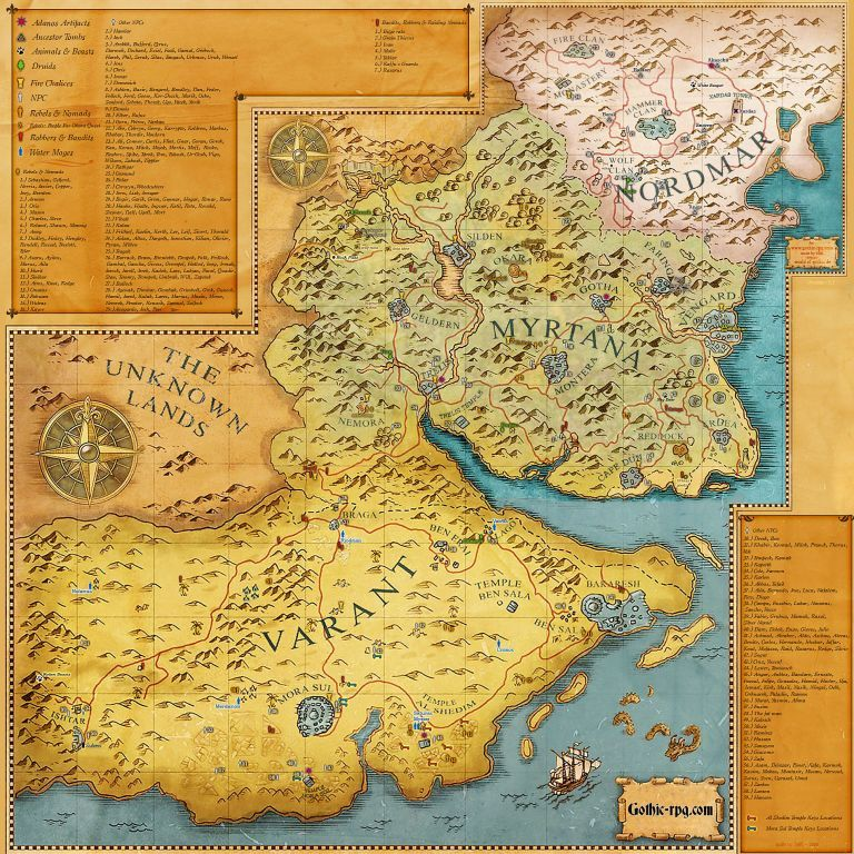 Карта с полезной информацией
